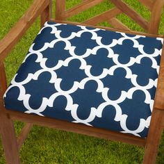 This chair cushion adds color, comfort, and simple style to your patio, living room, or your favorite seat. Features stain, fade, and mildew resistant fabric with ties to secure to furniture.