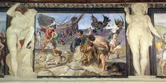 From Wikiwand: El transporte del Argo a través del desierto de Libia, pintura al fresco de Annibale, Agostino y Ludovico Carracci, Palacio Fava, Bolonia.