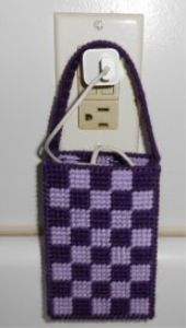 Cell Phone Charger Holder Plastic Canvas Pattern