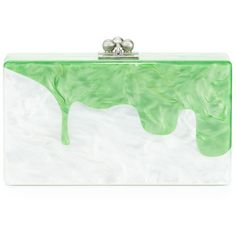 Edie Parker White Pearlescent Jean Slime Clutch ($1,375) ❤ liked on Polyvore featuring bags, handbags, clutches, white, edie parker clutches, white clutches, lucite purse, acrylic purse and white handbags