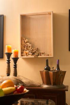 Clear Pine Wine Cork Frame - Holds up to 400 Wine Corks