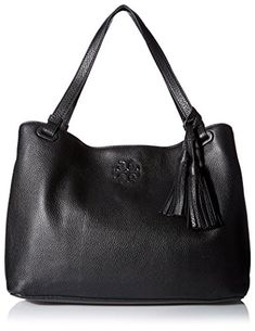 Women's Shoulder Bags - Tory Burch Womens Thea CenterZip Tote Black * You can find out more details at the link of the image.
