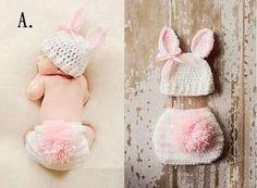 Newborn Baby Boy Girl Hat Set Crochet Knit Beanie Multi Outfit 0-6M Photo Prop   eBay