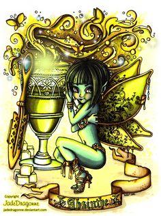 The Green Fairy - Colored by JadeDragonne.deviantart.com on @DeviantArt