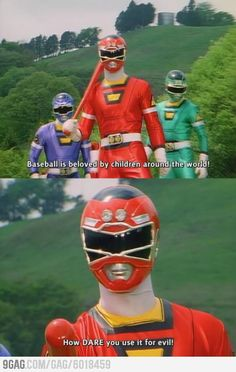 Power Rangers have a point.