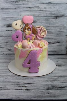 Ideas for cake pops baby shower girl kids Cake Pop Designs, Cake Decorating Designs, Easy Cake Decorating, Buttercream Icing Cake, Cake Frosting Tips, Paw Patrol Birthday Cake, Birthday Cake Girls, Ideas Decoracion Cumpleaños, Paw Patrol Cake Toppers