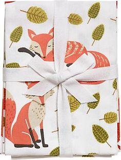 Paper Source Fox Tea Towels