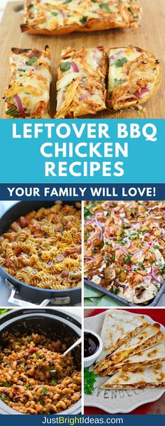 French Delicacies Essentials - Some Uncomplicated Strategies For Newbies Wondering What To Do With Leftover Bbq Chicken? Utilize These Leftover Bbq Chicken Recipes For Casseroles, One Pot Dinners And Delicious Sandwiches And Get More For Your Money Cooked Chicken Recipes Leftovers, Chicken Recipes For Kids, Leftovers Recipes, Recipe Using Bbq Chicken, Chicken Leftover Recipes Healthy, Bbq Chicken Wraps, Chicken Ideas, Healthy Recipes, Family Recipes