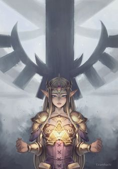 Legend of Zelda art > Princess Zelda > Triforce Princess Zelda Costume, Zelda Twilight Princess, The Legend Of Zelda, Zelda Hyrule Warriors, Zelda Drawing, Zelda Anime, Princesa Zelda, Princess Art, Dark Princess