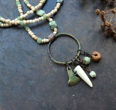 Bronze Age axe necklace bead amulet necklace ax god