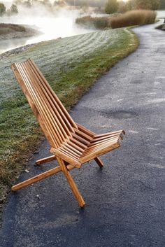 Kentucky Stick Chair, Solid Pine, Medium Walnut Finish, Great for the Backyard, Camping, and Relaxing, Fully Assembled