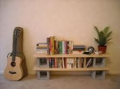 diy cinder block bookshelf