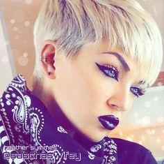 {Grow Lust Worthy Hair FASTER Naturally}>>> www.HairTriggerr.com <<<      Edgy Blonde Razor Cut