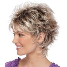 Startling Useful Tips: Wedding Hairstyles Brunette short pixie hairstyles.Boho Hairstyles Dreads women hairstyles over 50 photo galleries.Women Hairstyles Over 50 Photo Galleries. Short Hair Wigs, Cute Hairstyles For Short Hair, Wig Hairstyles, Curly Hair Styles, Layered Hairstyles, Hairstyle Ideas, Curly Wigs, Feathered Hairstyles, Hairstyles 2016