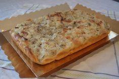 Focaccia de cebolla y orégano para www. Quiches, Focaccia Pizza, Pan Bread, Good Pizza, Four, Chapati, Cooking Time, Food For Thought, Italian Recipes