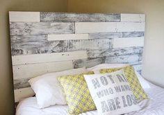 Cabecero de palet blanco/gris cabecero de palet madera