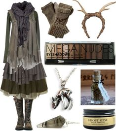 A fashion look from July 2015 by maggiehemlock featuring Manostorti, AllSaints, Jolie Moi, FAUXTALE et Boohoo Pagan Fashion, Witch Fashion, Forest Fashion, Hippie Stil, Mori Girl Fashion, Fashion Women, Women's Fashion, Witch Outfit, Neue Outfits