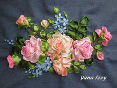Silk Ribbon Embroidery.