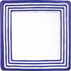 Entertaining with Caspari Stripe Border Paper Dinner Plates Blue Pack of 8 >>> Want to know more, click on the image.  This link participates in Amazon Service LLC Associates Program, a program designed to let participant earn advertising fees by advertising and linking to Amazon.com.