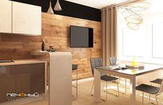 """Дизайн интерьера кухни в современном стиле в трехкомнатной квартире. Цвета: белый, бежевый, серый, черный. Студия дизайна """"Печёный""""."""