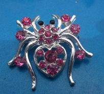 Pink Accented Spider Pin Free Ship