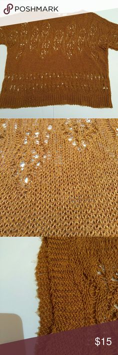 Women's Moth By Anthropology Shirt Women's size XS copper colored crochet top from Anthropology brand Moth.  In good used condition.  Has a couple small snags/wash wear. Please look over all pictures for any damage.  (6*40) Moth by Anthropology Tops