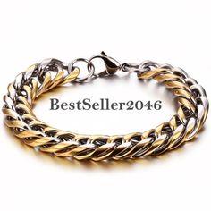Damen Herren Armband Edelstahl Panzerkette Armkette Kette Schmuck Gold Silber