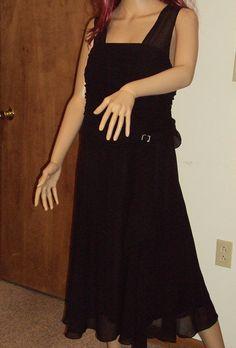 Lane Bryant Dress Black Halter Sheer Chiffon by outoftheattic2u, $60.00