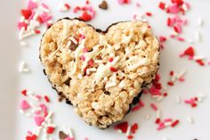 "Rice krispy treats that say ""I heart you"""