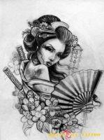 hình xăm geisha 34