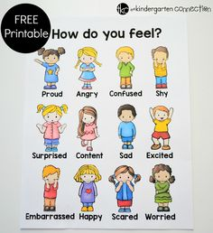 Emotions and Feelings Free Printable