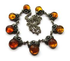 NE From Baltic amber daisy necklace, Scandinavian silver, vintage Danish floral jewelry, Denmark short collar necklace, Niels Erik From. https://www.etsy.com/uk/listing/479442675/ne-from-baltic-amber-daisy-necklace