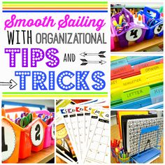 Organizational tips and tricks to start out the school year.