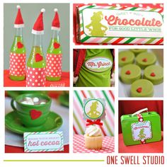 Grinch Christmas Printable Party Printables Set by oneswellstudio