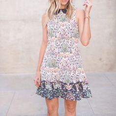 LC Lauren Conrad for Kohl's Print A-Line Dress