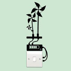 Uno sticker che ricorda di pensare sempre al benessere del nostro pianeta.