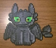 Toothless - How To Train Your Dragon Perler Bead Sprite by AesynneZephyrstorm on deviantART