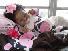 AA / Ethnic Reborn Baby Girl for sale - Sienna Rae by Cassie Brace