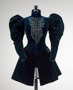 Afternoon jacket, because it's clearly not fancy enough for evening.  Afternoon Jacket 1895 The Metropolitan Museum of Art