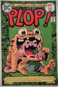 Vintage Comic Book Cover Art / ' PLOP! '