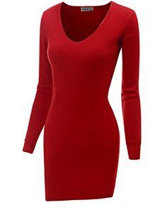 Doublju Womens Off Shoulder Longsleeve Casual Button Front Rib Cotton Knit Henley Dress Red 2XL Doublju http://www.amazon.com/dp/B00Q2OSD7K/ref=cm_sw_r_pi_dp_1elLub1XQMTT4