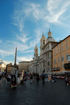 Rome, Italy  our favorite place . . . Piazza Novona , artists, sidewalk cafes. . .romantic!