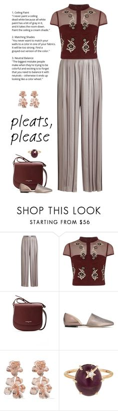 """""""Evening Guest"""" by patricia-dimmick ❤ liked on Polyvore featuring Golden Goose, River Island, Lancaster, Jimmy Choo, Oscar de la Renta, Andrea Fohrman and pleats"""