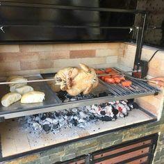 Parilla Grill, Parrilla Interior, Santa Maria Grill, Outdoor Kitchen Plans, Barbecue Design, Blacksmithing, Firewood, Outdoor Living, Grilling