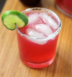 three-ingredient pomegranate margarita