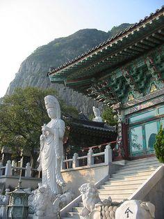 Buddhist temple in Jeju Island, South Korea (by stephanie.dee). - http://visitheworld.tumblr.com/post/34105994448/buddhist-temple-in-jeju-island-south-korea-by#