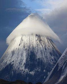 Amazing Lenticular cloud over Klyuchevskaya Sopka Volcano. Photo by © Denis Budkov