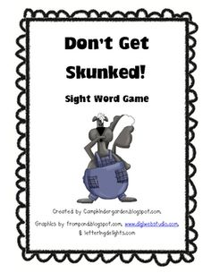 In this card game students practice reading sight words and they try not to get skunked!   A great TpT freebie...