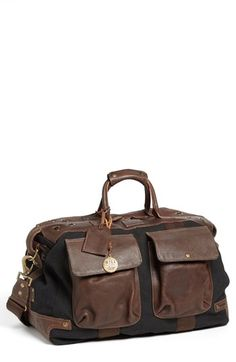 $395, Will Leather Goods Traveler Duffel Bag. Sold by Nordstrom. Click for more info: https://lookastic.com/men/shop_items/142891/redirect
