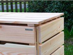3er m lltonnenbox holz 120 liter. Black Bedroom Furniture Sets. Home Design Ideas